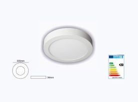 SUMINISTROS ELÉCTRICOS JIMENEZ Downlight LED 24w 6000k Superficie