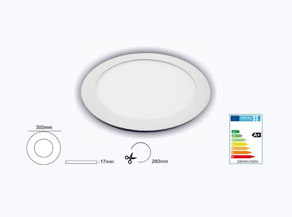 SUMINISTROS ELÉCTRICOS JIMENEZ producto Downlight LED 24w 2100lm 6000k extraplano